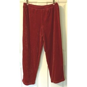Coldwater Creek Velvety Stretch Pants Red Soft PL